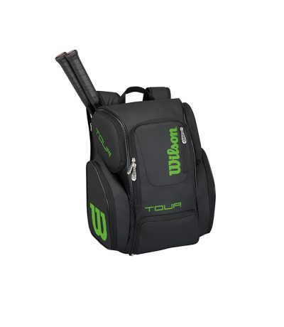 ساک تنیس ویلسون | Tour V Backpack Large Black/Lime