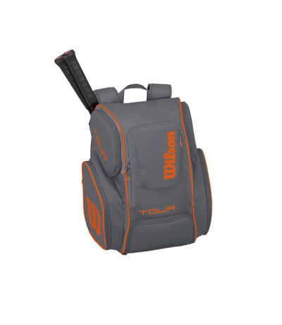 ساک تنیس ویلسون | Tour V Backpack Large Grey/Orange