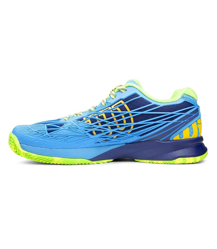 کفش تنیس مردانه ویلسون | Kaos Clay Court Blue/Green