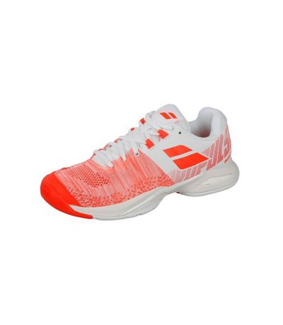 کفش تنیس زنانه بابولات | Propulse Blast White/Fluo Strike