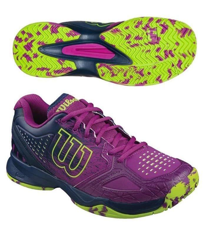 کفش تنیس زنانه ویلسون | Kaos Comp Azalea Pink/Navy/Granny Green
