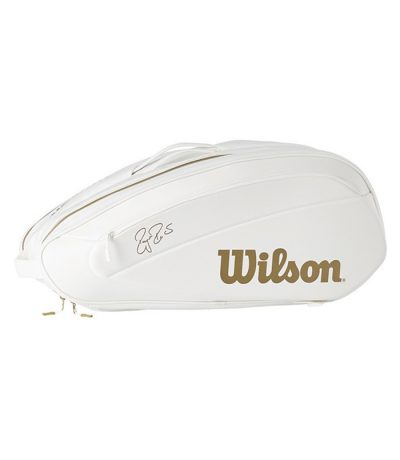 ساک تنیس ویلسون | Federer DNA 12 Pack Bag Limited (White/Gold)