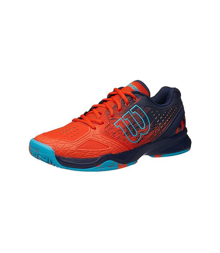 کفش تنیس مردانه ویلسون | Kaos Comp Tomato red/ Navy wilson/ Scuba blue