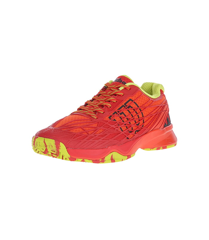کفش تنیس مردانه ویلسون | Kaos Red/Solar lime