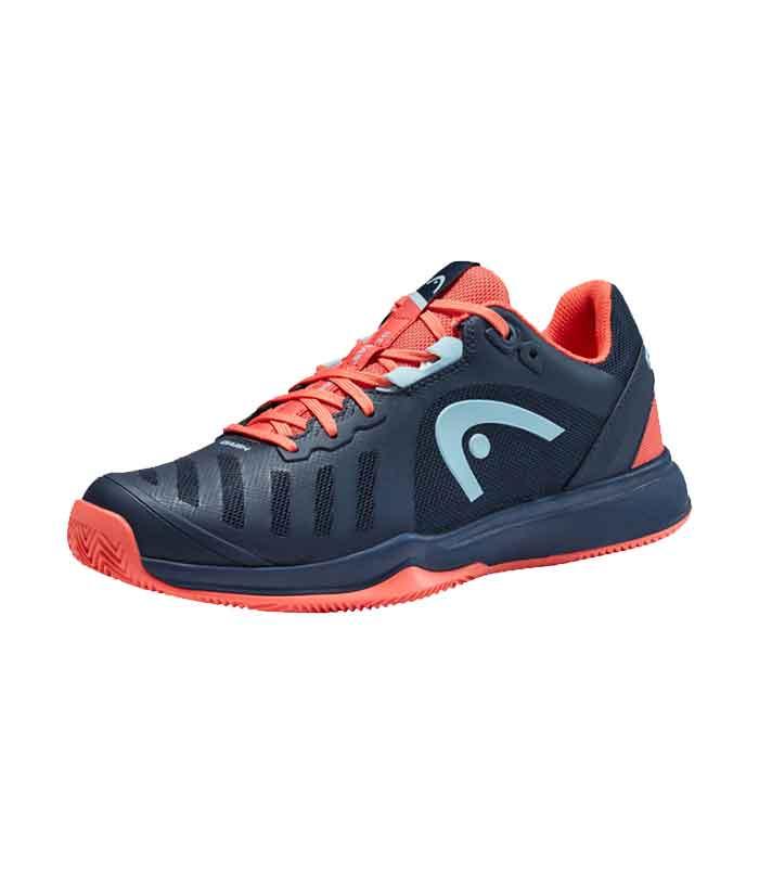 کفش تنیس زنانه هد | Sprint Team 3.0 2021 Clay Women Dark Blue/Coral