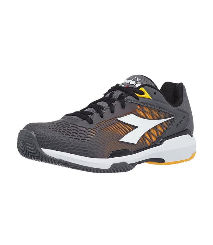 کفش تنیس مردانه دیادورا | Speed Competition 6 AG Plus Clay Grey/Yellow