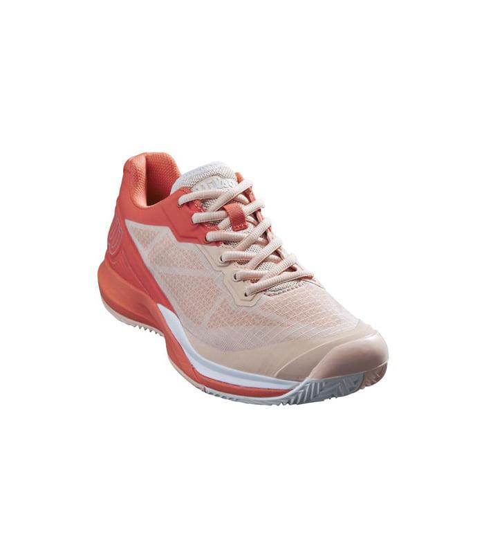 کفش تنیس زنانه ویلسون | Rush Pro 3.5 Clay Tropical Peach/Hot Coral/White