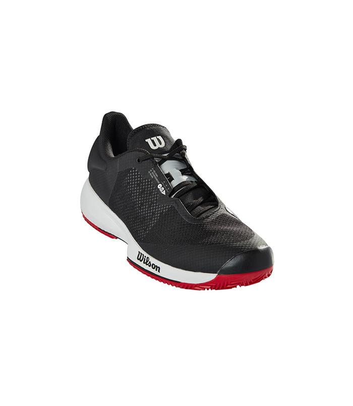 کفش تنیس مردانه ویلسون | Kaos Swift Clay Black/Pearl Blue/Wilson Red