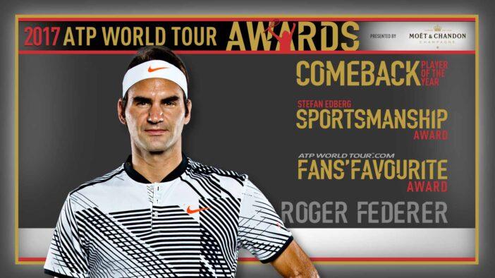 برندگان جوایز ATP در سال ۲۰۱۷