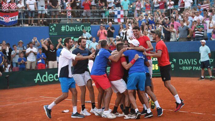 راهیابی تیمهای کرواسی و فرانسه به فینال مسابقات دیویس کاپ ۲۰۱۸