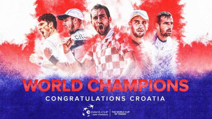 قهرمانی کرواسی در مسابقات دیویس کاپ ۲۰۱۸؛ کرواتها انتقام فینال جام جهانی را از فرانسه گرفتند.