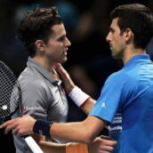 تنیس لندن ۲۰۱۹؛ دومینیک تیم با شکست نواک جوکوویچ در دیداری تماشایی به نیمهنهایی رسید