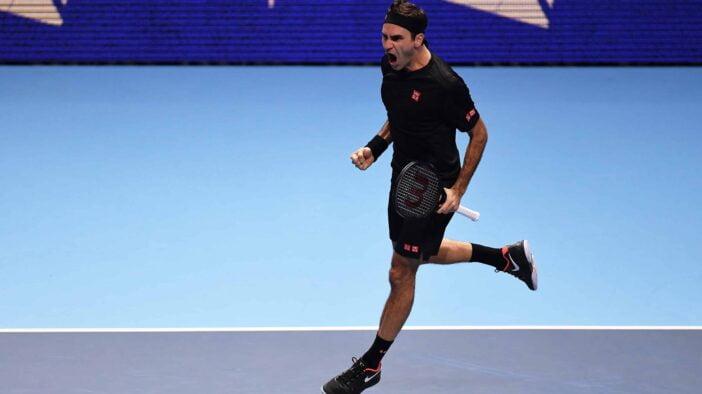 تنیس لندن ۲۰۱۹؛ راجر فدرر با شکست نواک جوکوویچ به نیمهنهایی رسید / صدرنشینی پایان فصل، هدیه استاد سوییسی به نادال