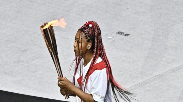 نائومی اوساکا مشعل المپیک توکیو را روشن کرد
